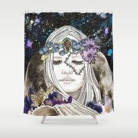 luna Shower Curtains featuring Luna by Jenndalyn