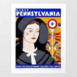 Vintage poster - Pennsylvania Art Print