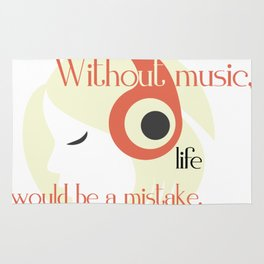 Life without Music Rug