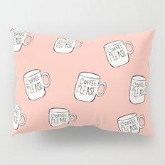 Coffee Please Coffee Mug Pattern Pillow Sham