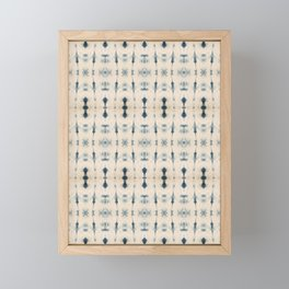 Light Indigo Shibori Framed Mini Art Print