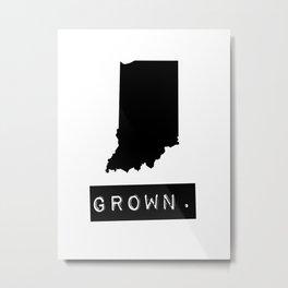 Indiana Grown Metal Print