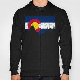 Colorado Flag and Mountains Hoody