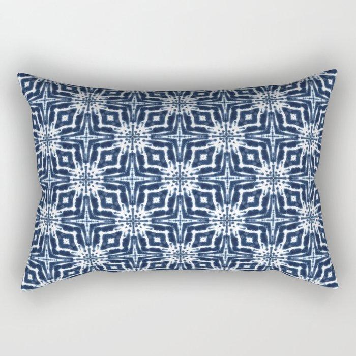 Watercolor Shibori Indigo Rectangular Pillow