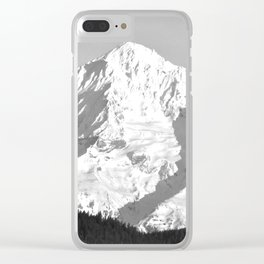 MOUNT HOOD - OREGON - BLACK AND WHITE PHOTOGRAPHY Clear iPhone Case