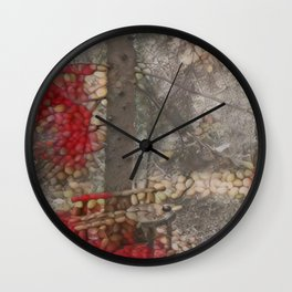 Nutty Fall Wall Clock