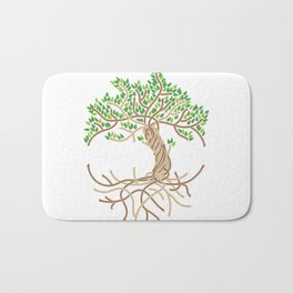 Rope Tree of Life. Rope Dojo 2017 white background Bath Mat