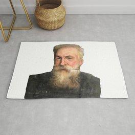 Auguste Rodin Portrait Rug