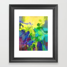 Yellow Lyrical Abstraction  Framed Art Print
