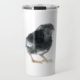 Barred Rock Chick Watercolor Travel Mug