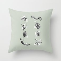 Botanica Letters | Pale Green Throw Pillow