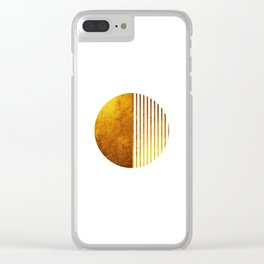 Gold Sun Clear iPhone Case