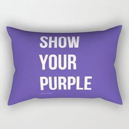 Show Your Purple #2 Rectangular Pillow