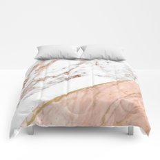 Marble rose gold blended Comforters