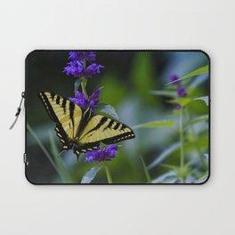 Butterfly on a Purple Flower Laptop Sleeve