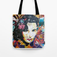 jenny liz rome Tote Bags featuring Liz by Phil Fung