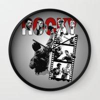 saga Wall Clocks featuring Rocky Saga by The Black Lodge