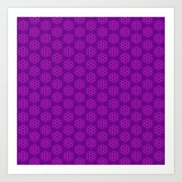 Ultraviolet Biscuits Pattern Art Print