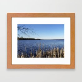 """Incredi-blue"" lake view - Lake Mendota, Madison, WI Framed Art Print"