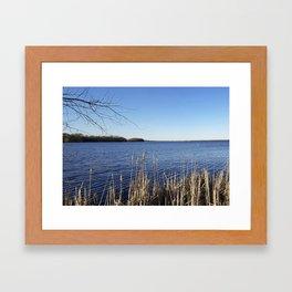 """Incredi-blue"" lake view - Lake Mendota, Madison, WI Framed Art Print"