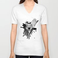 harley V-neck T-shirts featuring harley girl by mark ashkenazi