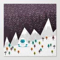 yeti Canvas Prints featuring Yeti by Kakel
