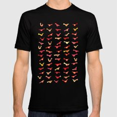 An Army of Undisciplined Birds MEDIUM Black Mens Fitted Tee