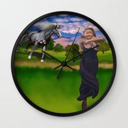 Princess Bitey vs. The Big Sis Wall Clock