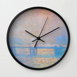 "Claude Monet ""Charing Cross Bridge, The Thames"" (1903) Wall Clock"