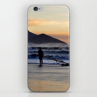 south africa iPhone & iPod Skins featuring Sunset Beach - South Africa by The 3rd Eye