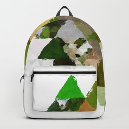 Spring Triangles - Fresh green and white triangle pattern - Greenery Backpack