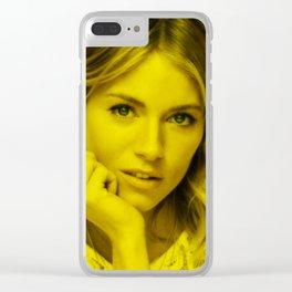 Sienna Miller - Celebrity (Florescent Color Technique) Clear iPhone Case