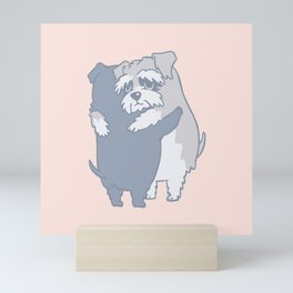 Schnauzer  Hugs Mini Art Print