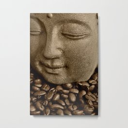 buddha coffee 2 Metal Print