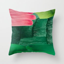 so fresh and so green Throw Pillow