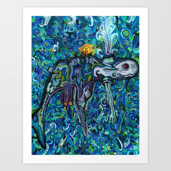Light Whale Art Print