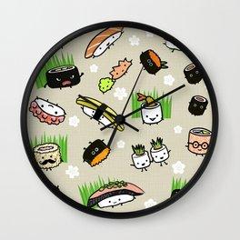Sushi Friends Wall Clock