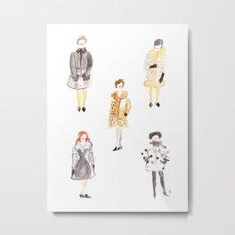 Fur Coat Ladies Metal Print