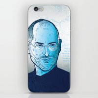 steve jobs iPhone & iPod Skins featuring Steve Jobs by BTillustration