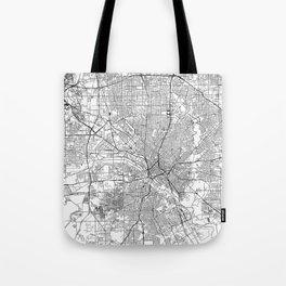 Dallas White Map Tote Bag