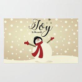 Snowman's Joy To The World Rug
