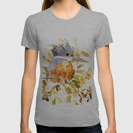 Belted Kingfisher home decor T-shirt