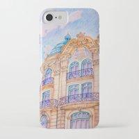 art nouveau iPhone & iPod Cases featuring art nouveau by Tereza Del Pilar