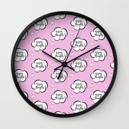 Pink thoughts Wall Clock