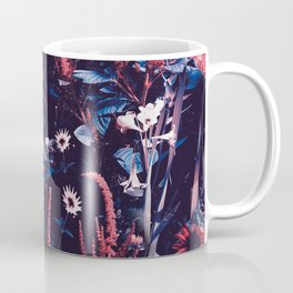 Cobalt And Carmine Bold Night Floral Coffee Mug