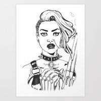 tank girl Art Prints featuring Tank Girl by Thodoris Mpoutos / Boutos