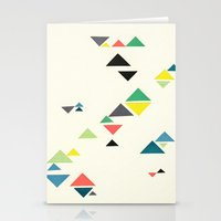 triangles Stationery Cards featuring Triangles by Cassia Beck