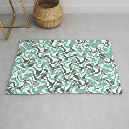 Funny bubbles print, scandinavian pattern, abstract design Rug