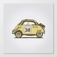 bmw Canvas Prints featuring BMW Isetta by GarageProject101