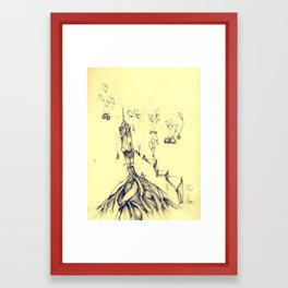 moving around Framed Art Print